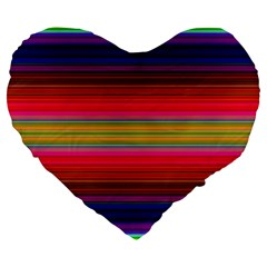 Fiesta Stripe Colorful Neon Background Large 19  Premium Flano Heart Shape Cushions