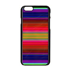Fiesta Stripe Colorful Neon Background Apple Iphone 6/6s Black Enamel Case