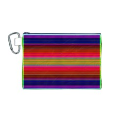 Fiesta Stripe Colorful Neon Background Canvas Cosmetic Bag (m)