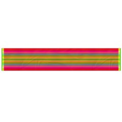 Fiesta Stripe Colorful Neon Background Flano Scarf (Large)