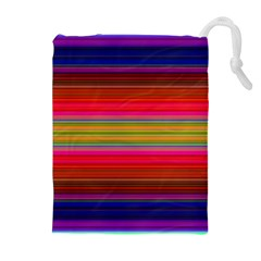 Fiesta Stripe Colorful Neon Background Drawstring Pouches (extra Large)