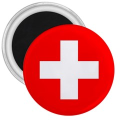 Flag Of Switzerland 3  Magnets