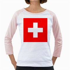 Flag Of Switzerland Girly Raglans