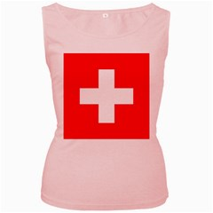 Flag Of Switzerland Women s Pink Tank Top