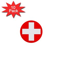 Flag Of Switzerland 1  Mini Buttons (10 Pack)