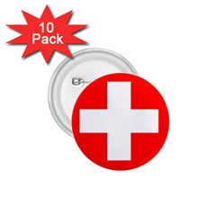 Flag Of Switzerland 1 75  Buttons (10 Pack)