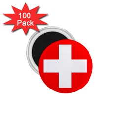 Flag Of Switzerland 1 75  Magnets (100 Pack)