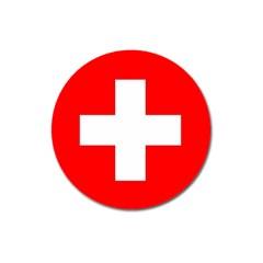 Flag Of Switzerland Magnet 3  (round)