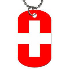 Flag Of Switzerland Dog Tag (two Sides)