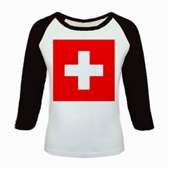 Flag Of Switzerland Kids Baseball Jerseys