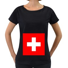 Flag Of Switzerland Women s Loose Fit T Shirt (black)