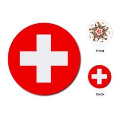 Flag Of Switzerland Playing Cards (round)