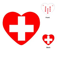 Flag Of Switzerland Playing Cards (heart)
