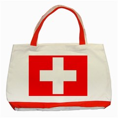 Flag Of Switzerland Classic Tote Bag (red)