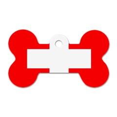 Flag Of Switzerland Dog Tag Bone (one Side)