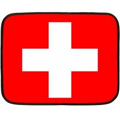 Flag Of Switzerland Double Sided Fleece Blanket (mini)