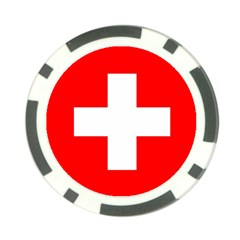 Flag Of Switzerland Poker Chip Card Guard (10 Pack)