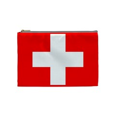 Flag Of Switzerland Cosmetic Bag (medium)