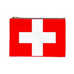 Flag Of Switzerland Cosmetic Bag (large)