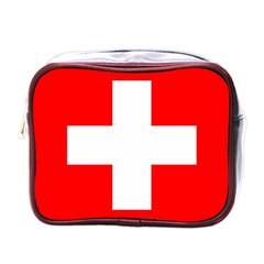 Flag Of Switzerland Mini Toiletries Bags