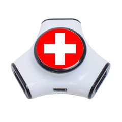 Flag Of Switzerland 3 Port Usb Hub