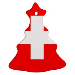 Flag Of Switzerland Christmas Tree Ornament (two Sides)