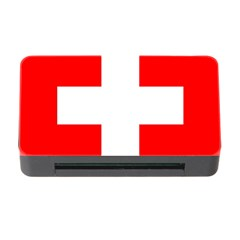 Flag Of Switzerland Memory Card Reader With Cf