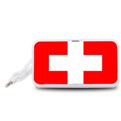 Flag Of Switzerland Portable Speaker (white)