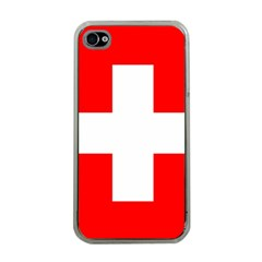 Flag Of Switzerland Apple Iphone 4 Case (clear)