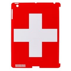 Flag Of Switzerland Apple Ipad 3/4 Hardshell Case (compatible With Smart Cover)