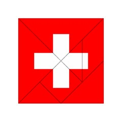 Flag Of Switzerland Acrylic Tangram Puzzle (4  X 4 )