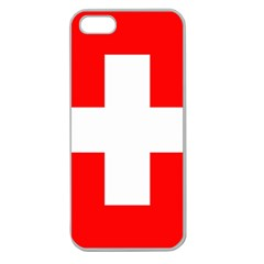 Flag Of Switzerland Apple Seamless Iphone 5 Case (clear)