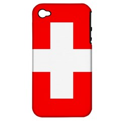 Flag Of Switzerland Apple Iphone 4/4s Hardshell Case (pc+silicone)