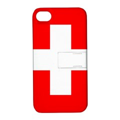 Flag Of Switzerland Apple Iphone 4/4s Hardshell Case With Stand