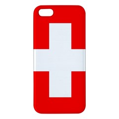Flag Of Switzerland Apple Iphone 5 Premium Hardshell Case