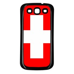 Flag Of Switzerland Samsung Galaxy S3 Back Case (black)