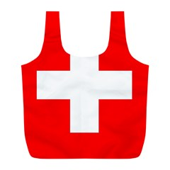 Flag Of Switzerland Full Print Recycle Bags (l)