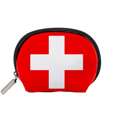 Flag Of Switzerland Accessory Pouches (small)