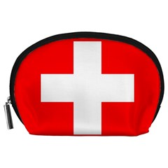 Flag Of Switzerland Accessory Pouches (large)