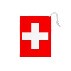 Flag Of Switzerland Drawstring Pouches (small)