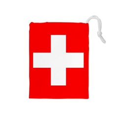 Flag Of Switzerland Drawstring Pouches (medium)