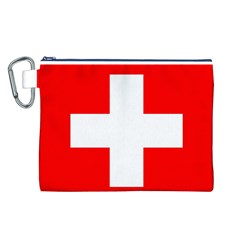 Flag Of Switzerland Canvas Cosmetic Bag (l)