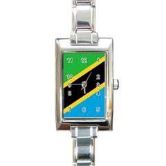 Flag Of Tanzania Rectangle Italian Charm Watch