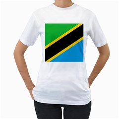 Flag Of Tanzania Women s T Shirt (white) (two Sided)