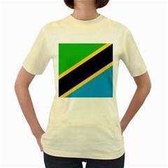 Flag Of Tanzania Women s Yellow T-Shirt
