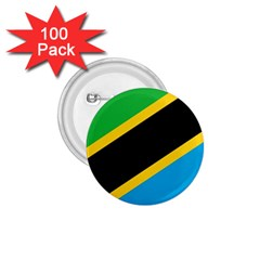 Flag Of Tanzania 1.75  Buttons (100 pack)