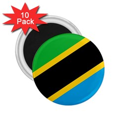Flag Of Tanzania 2 25  Magnets (10 Pack)