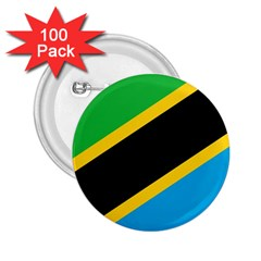 Flag Of Tanzania 2 25  Buttons (100 Pack)