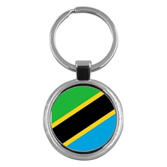 Flag Of Tanzania Key Chains (round)