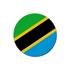 Flag Of Tanzania Rubber Coaster (round)